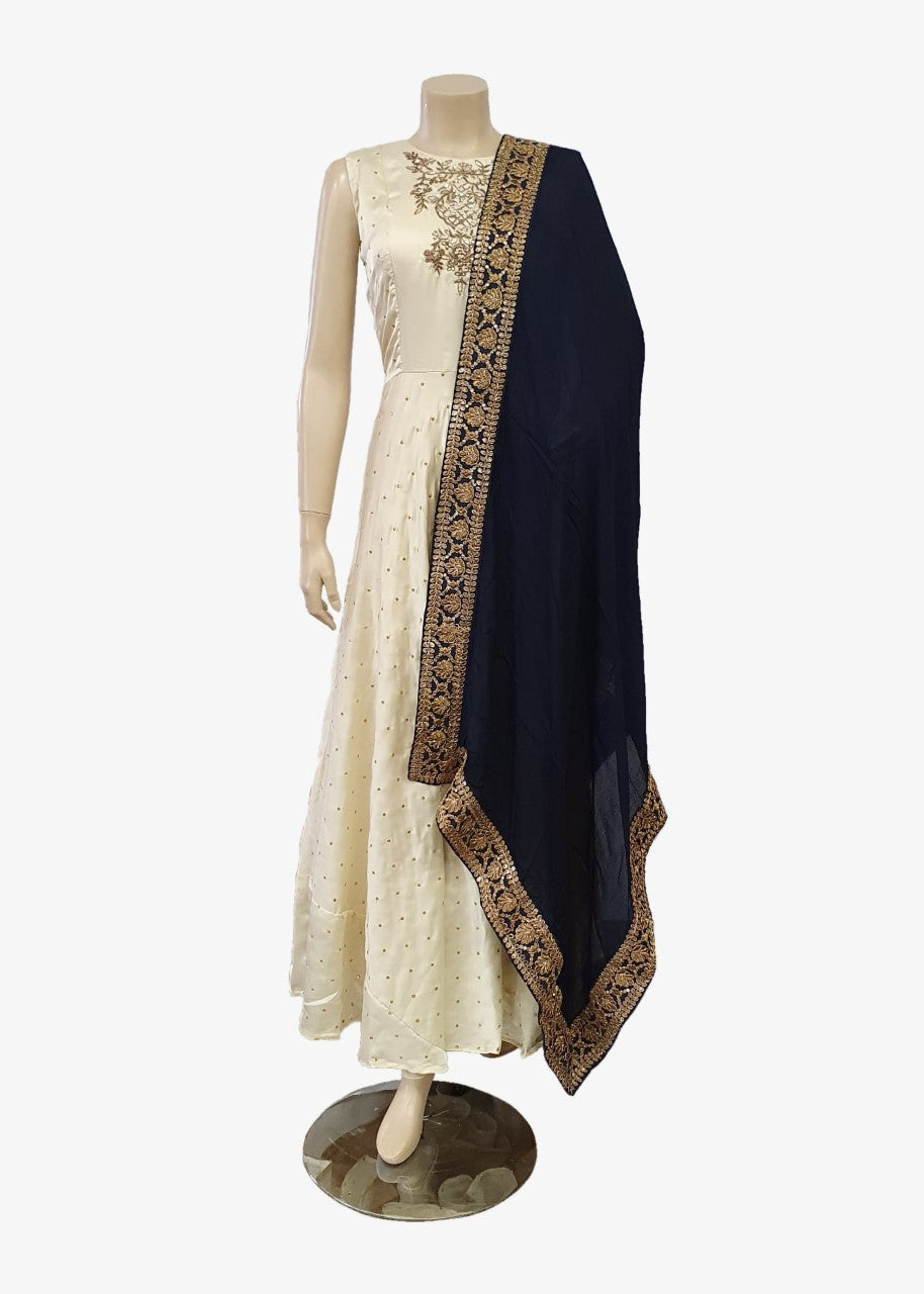 Navy Blue Georgette Dupatta