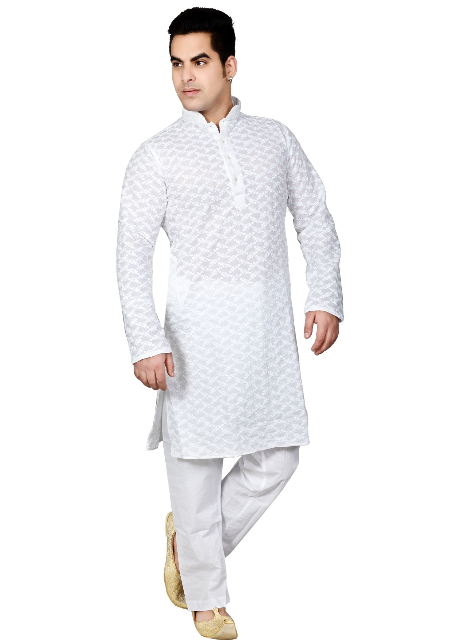 Cotton Kurta Suit - White