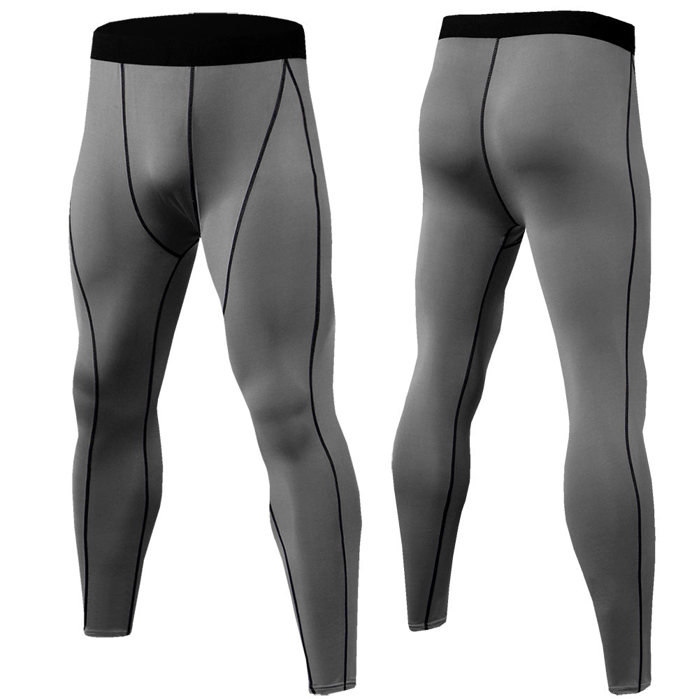 #8 Men's Solid Color Tights Compression Pants Running Tights Sport Man Gym Leggings Pants Men Long Trousers Gym Skinny Pants