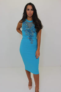 Crystal Dress Turquoise