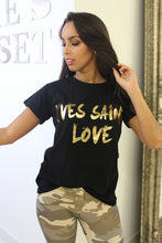 Load image into Gallery viewer, Yves Saint Love T-Shirt Black