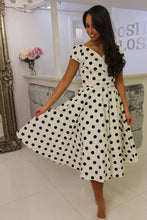 Load image into Gallery viewer, Polka Dot Swing Dress