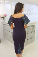 Load image into Gallery viewer, Purple Sequin Top Midi Dress