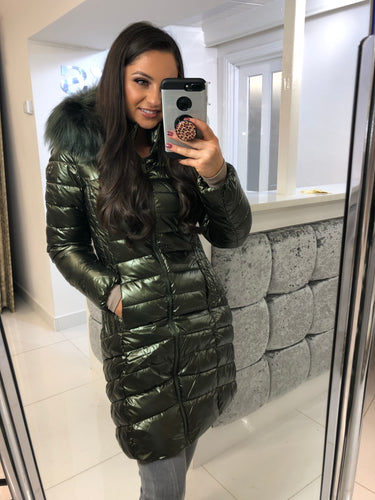 Khaki Quilted Coat