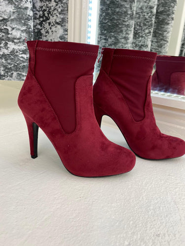 Red Heeled Ankle Boots