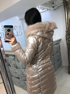 Blush Quilted Coat