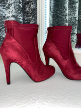 Load image into Gallery viewer, Red Heeled Ankle Boots