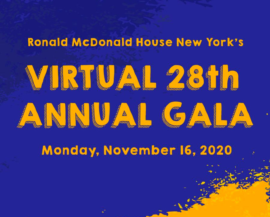 Ronald McDonald House New York to Host 28th Annual Gala Virtually