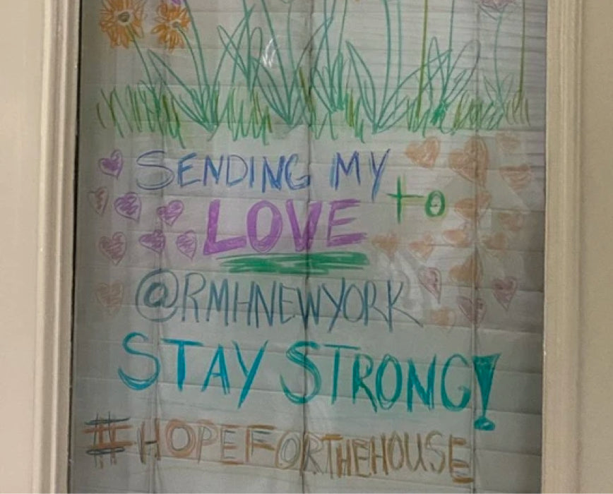 Window Messages Brings Hope for Ronald McDonald House New York Patients