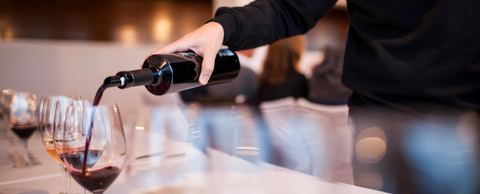 Luxurious Wine Pouring Image