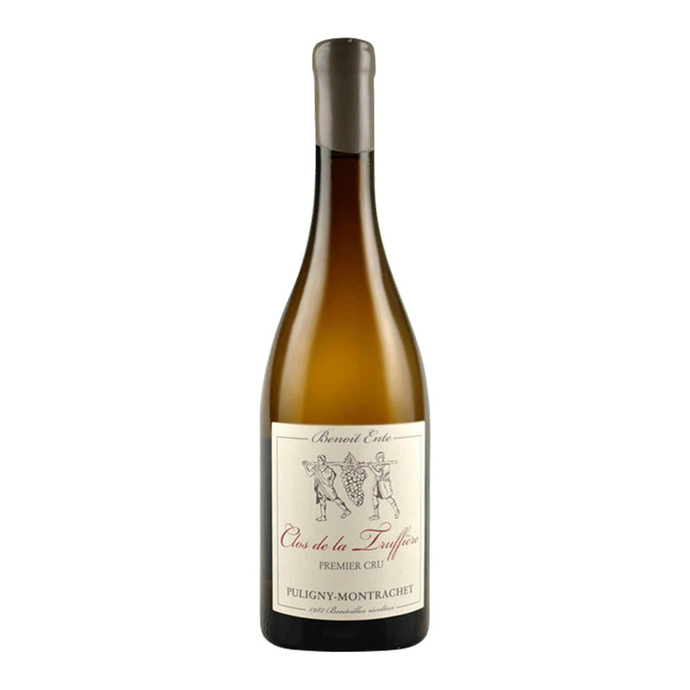 Benoit Ente, Puligny Montrachet Premier Cru Clos Truffiere wine bottle with label