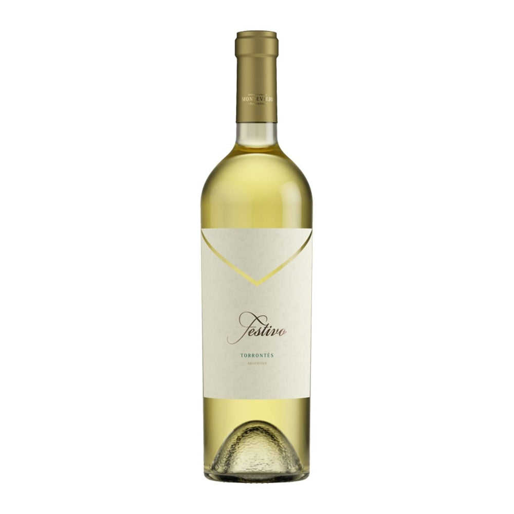 Bodega Monteviejo, Torrontes Festico bottle Image with gold cap