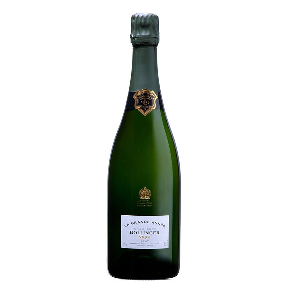 Bollinger Grande Annee, 2002 bottle image with foil top
