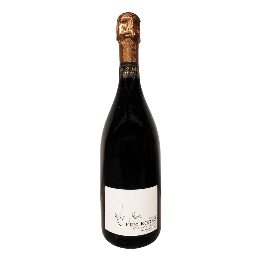 Load image into Gallery viewer, Champagne Eric Rodez Lieux Dits Genettes Pinot Noir, Grand Cru Ambonnay, champagne bottle with gold foil top