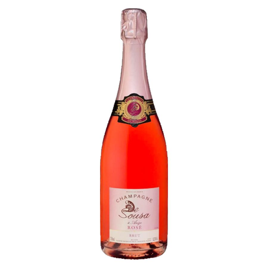 Load image into Gallery viewer, Champagne Erik De Sousa Brut Rosé pink champagne bottle with gold foil top and Sousa golden label