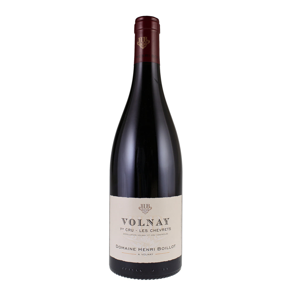 Domaine Henri Boillot Volnay Premier Cru Les Chevrets bottle with red foil top