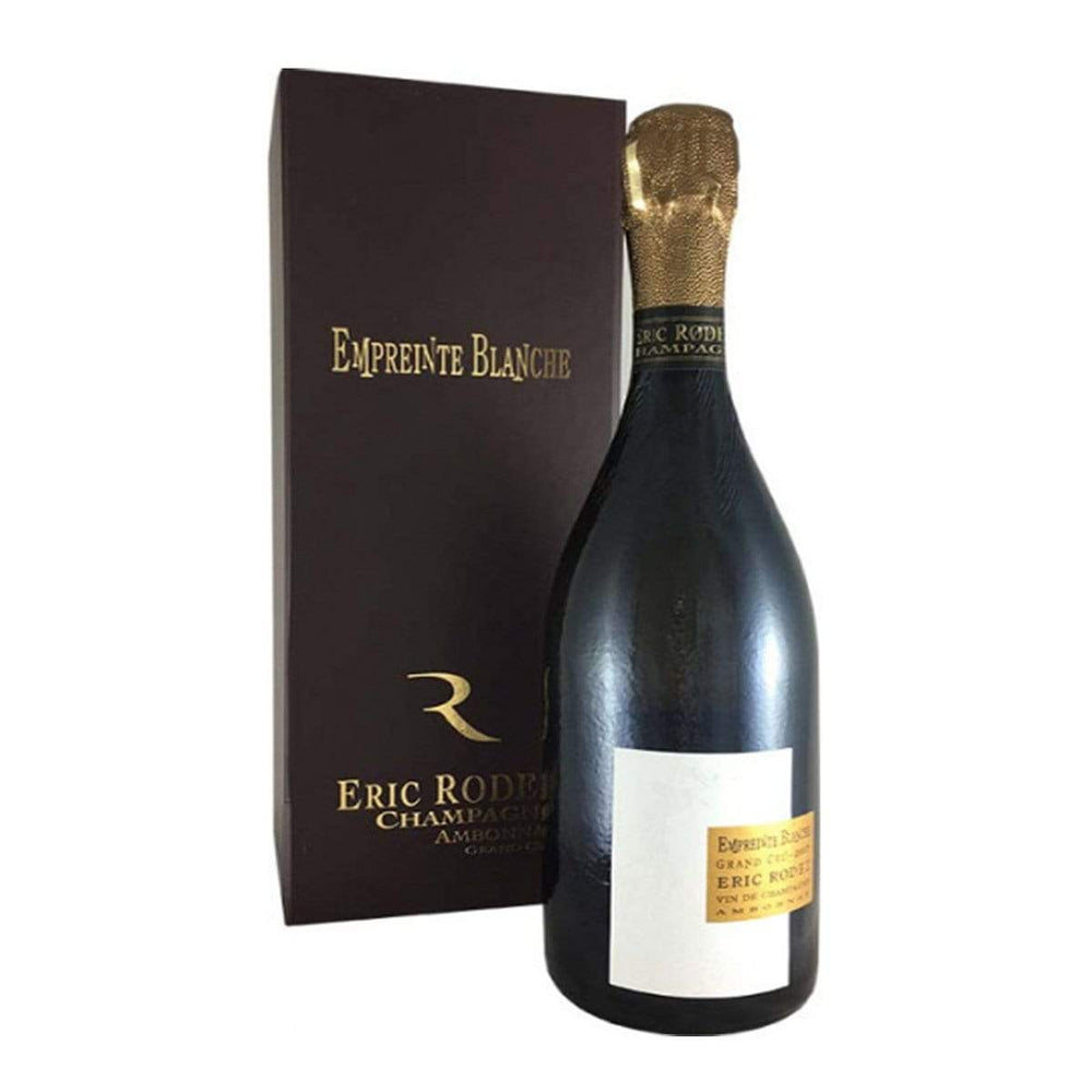 Champagne Eric Rodez Empreinte Blanche champagne bottle with gold foil