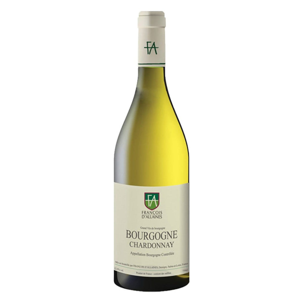 Francois d'Allaines Bourgogne Chardonnay bottle image with white label