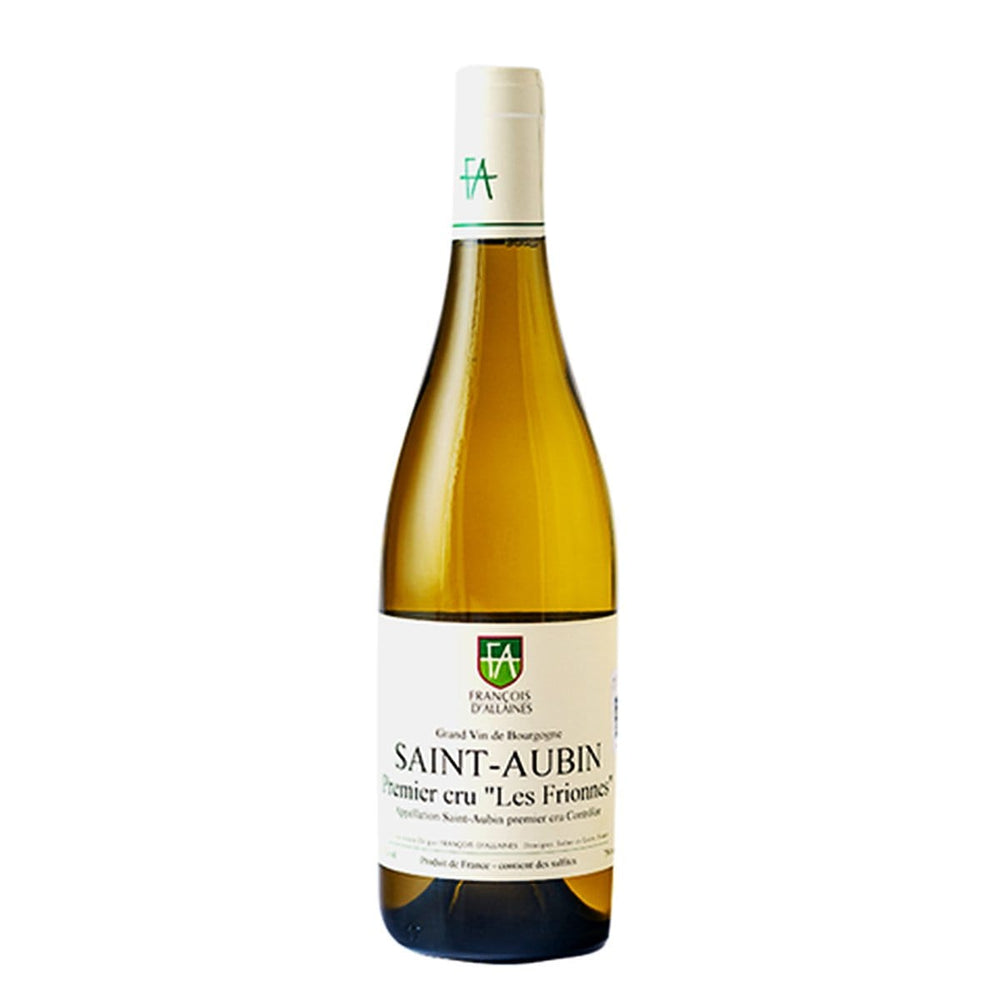 Load image into Gallery viewer, Francois d'Allaines Saint Aubin 1er Cru Les Frionnes white wine bottle with white label
