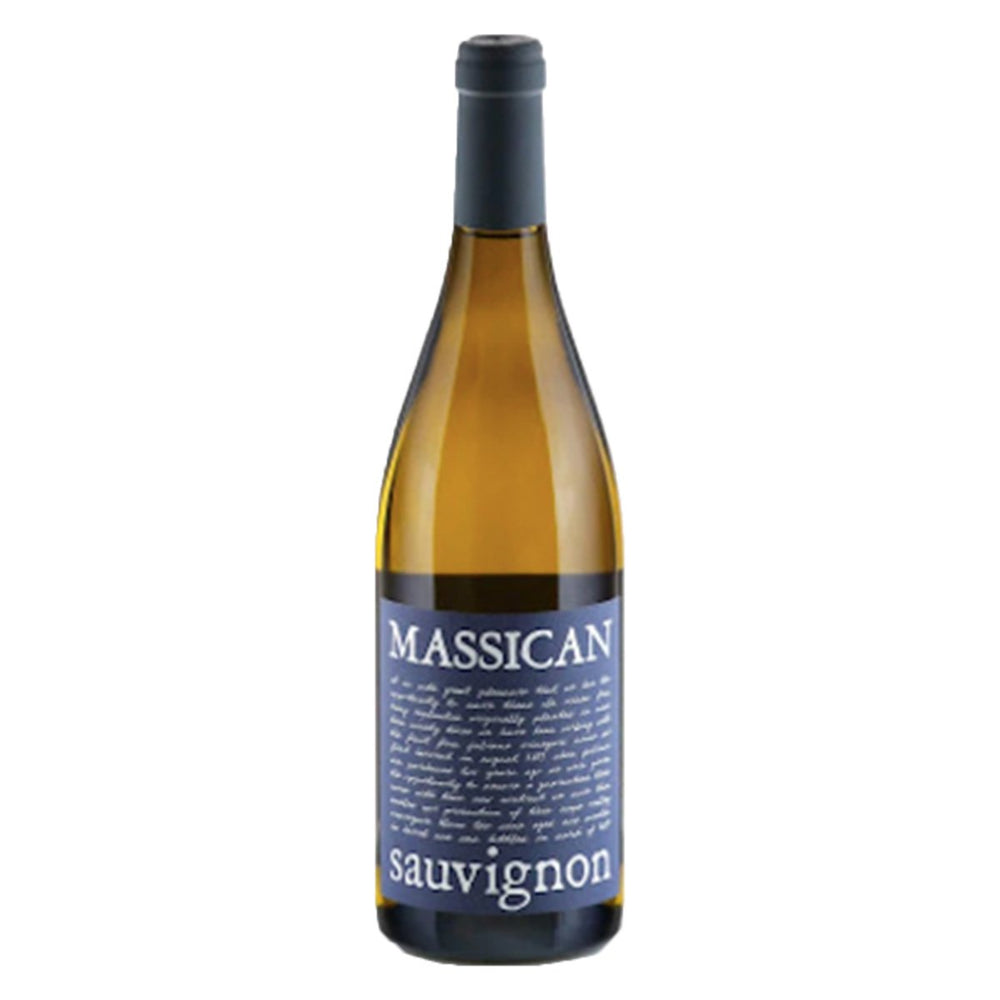 Massican Sauvignon Blanc Bottle image with blue label