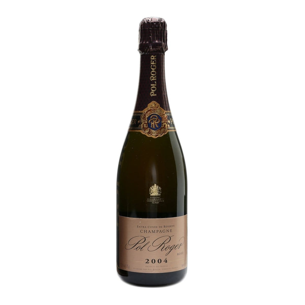 Pol Roger Rose Brut, 2004 Rose Champage Bottle