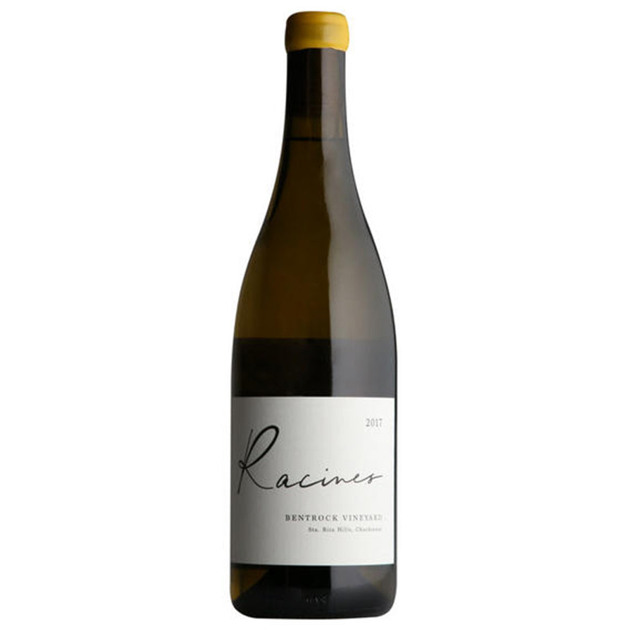 Load image into Gallery viewer, Racines Chardonnay Bentrock Vineyard bottle with yellow top