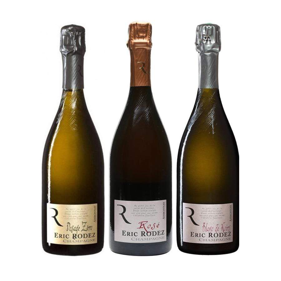 Selection of 3x Rodez champagne bottles