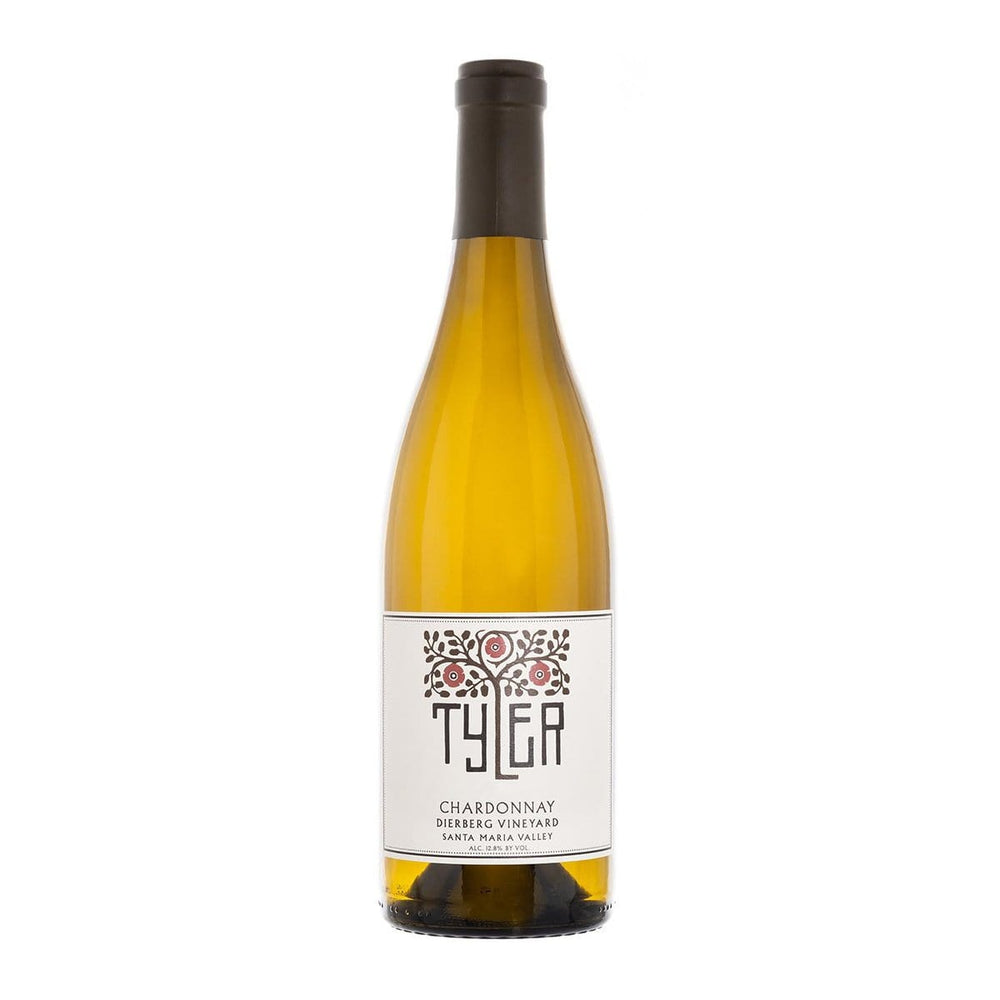 Tyler Dierberg Vineyard Chardonnay bottle with Tyler label and logo