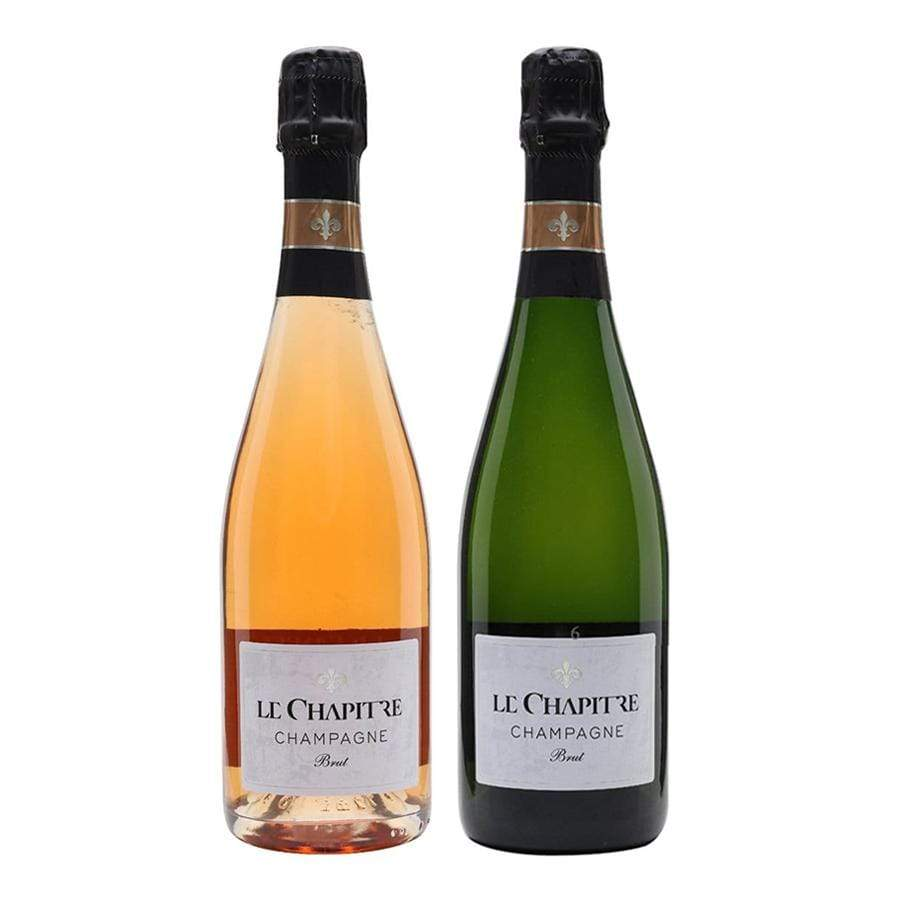 """Fizz"" case selection from Wine Source including 2018 White and 2019 Red Champagnes from Le Chapitre. Wine from France, Champagne."
