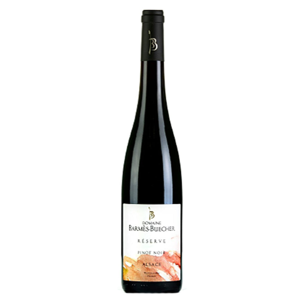 Domaine Barmès Buecher Alsace Pinot Noir Red wine bottle with white Barmes label