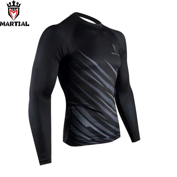 Martial Grey Rash Guard