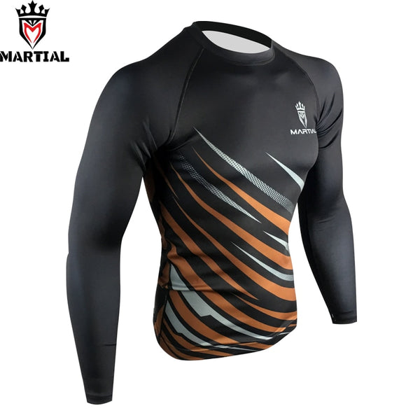 Martial Long Brown Rash Guard