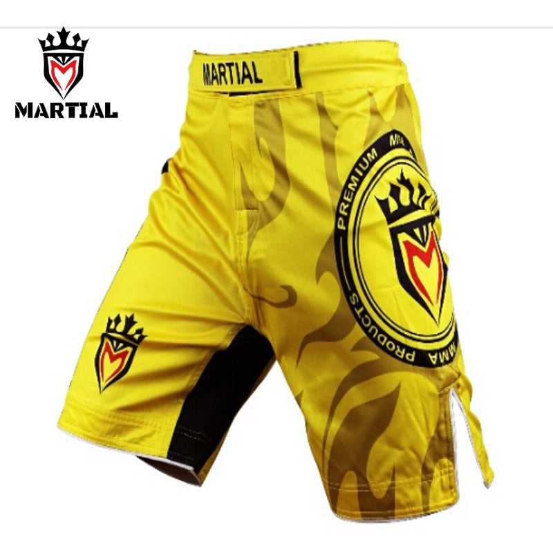 Martial Yellow Shorts