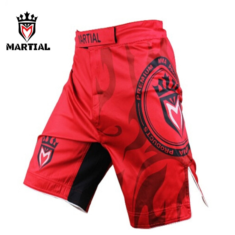 Martial Red Shorts
