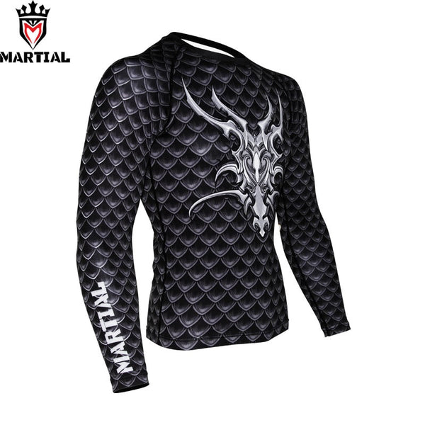 Martial Guardian of Dragon Rash Guard