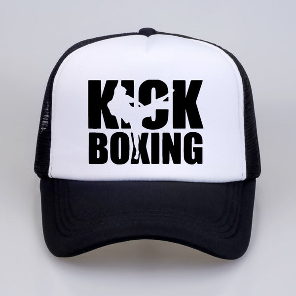 White Kick Boxing Cap