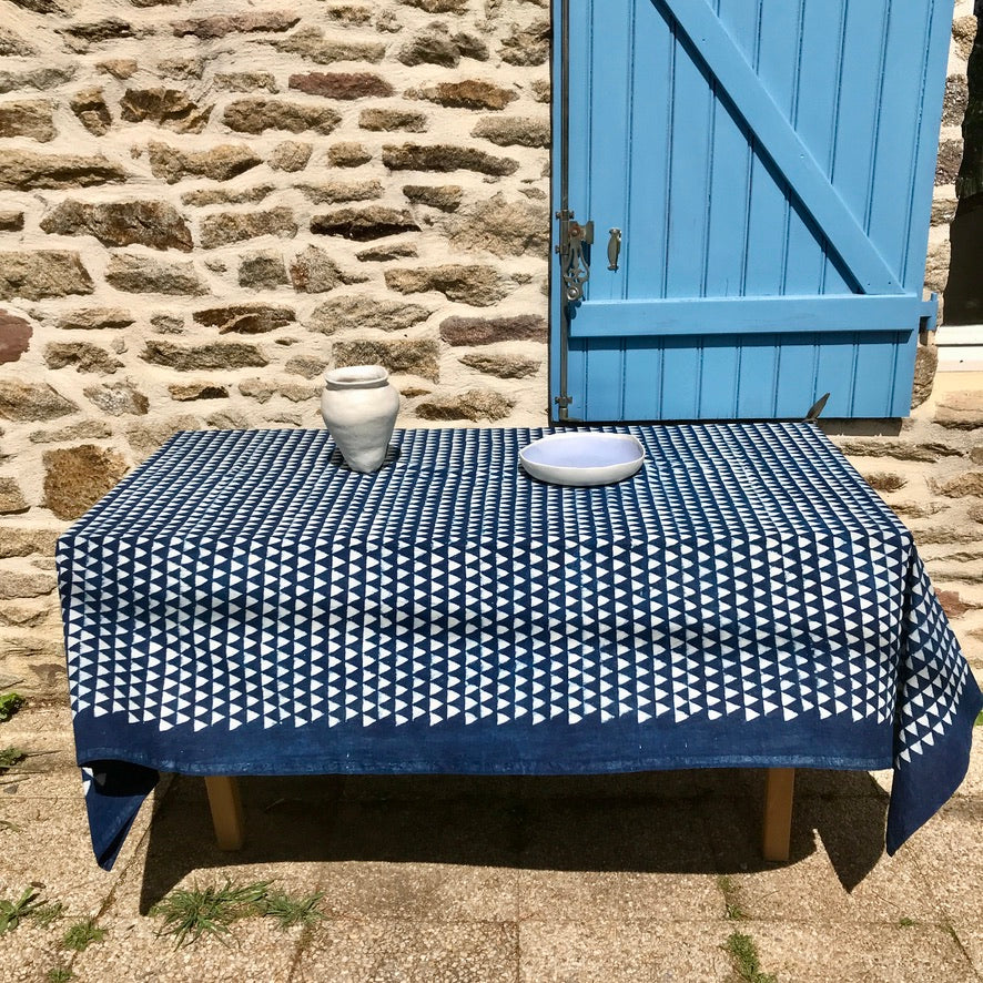 Nappe indienne bleue