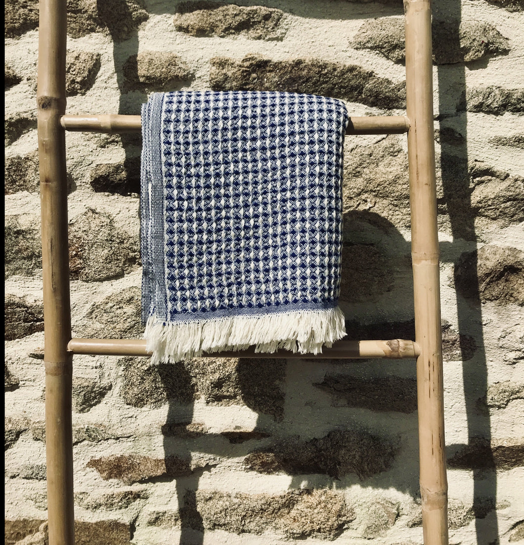 Fouta Sept wafle navy
