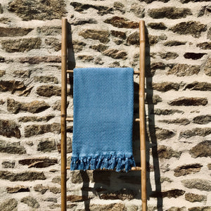 Fouta Retro bleu denim