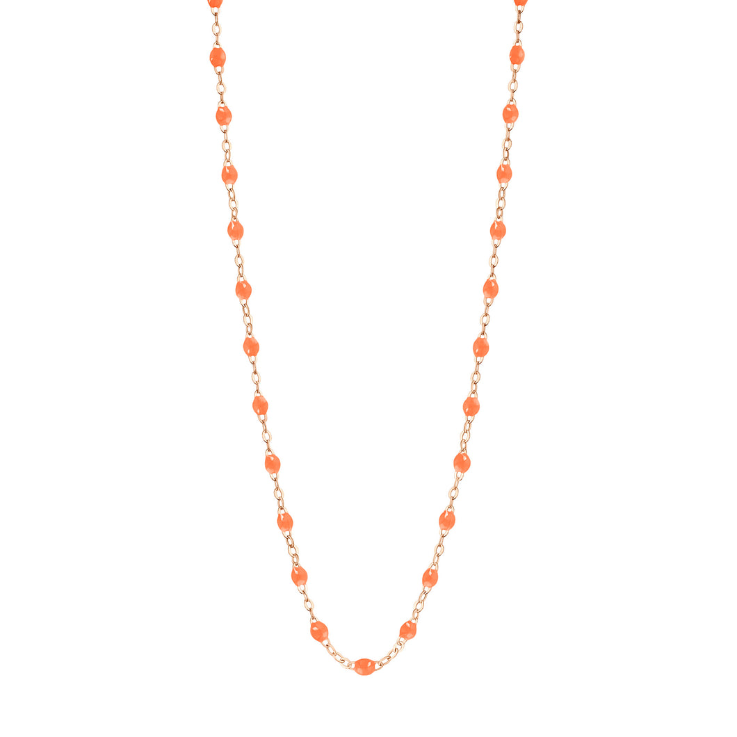 Collier Classique Gigi, 42 cm, Or Rose, Orange