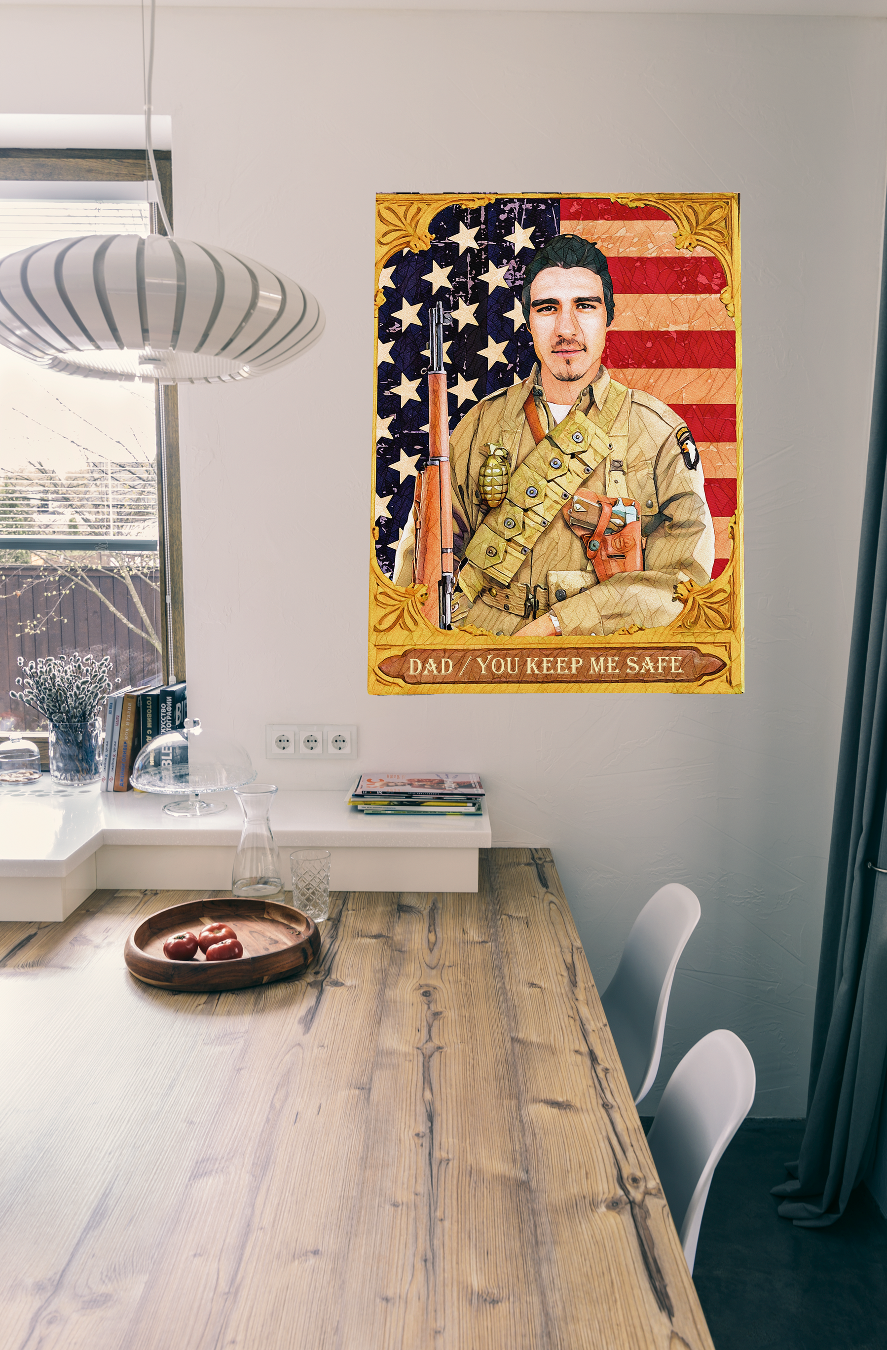 The Soldier - Custom Canvas Art