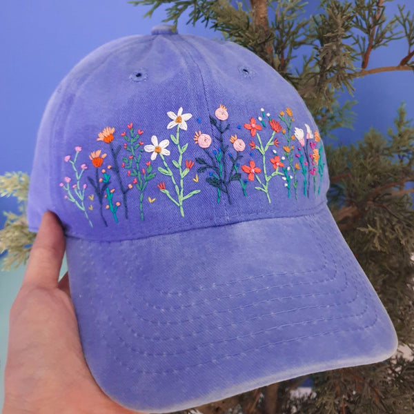 Wildflower Embroidery Cap
