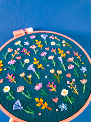 DIY Florallover Embroidery Kit