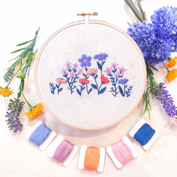 DIY Wildflower Embroidery Kit