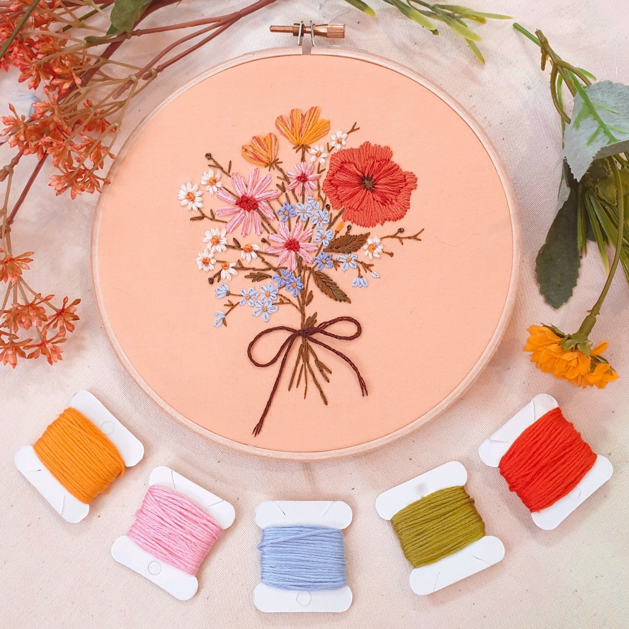 DIY Bouquet Embroidery Kit