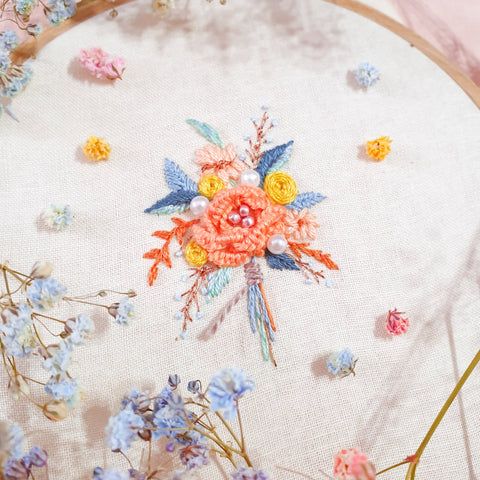 Bouquet Embroidery Workshop (5th Sep,  12-3pm)