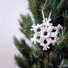 Load image into Gallery viewer, Small Macramé Snowflake (Set of 3)