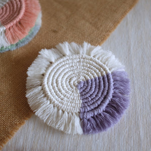 Macramé Sun Coaster (Assorted Colours)