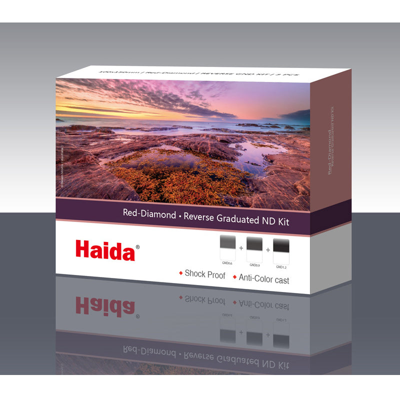 Haida Red Diamond Reverse GND 100x150 mm Filter-Kit, Grauverlaufsfilter