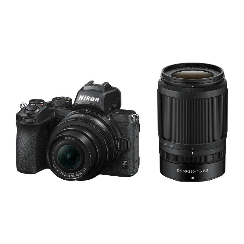 NIKON Z 50 KIT DX 16-50 MM 1:3.5-6.3 VR + DX 50-250 MM 1:4.5-6.3 VR
